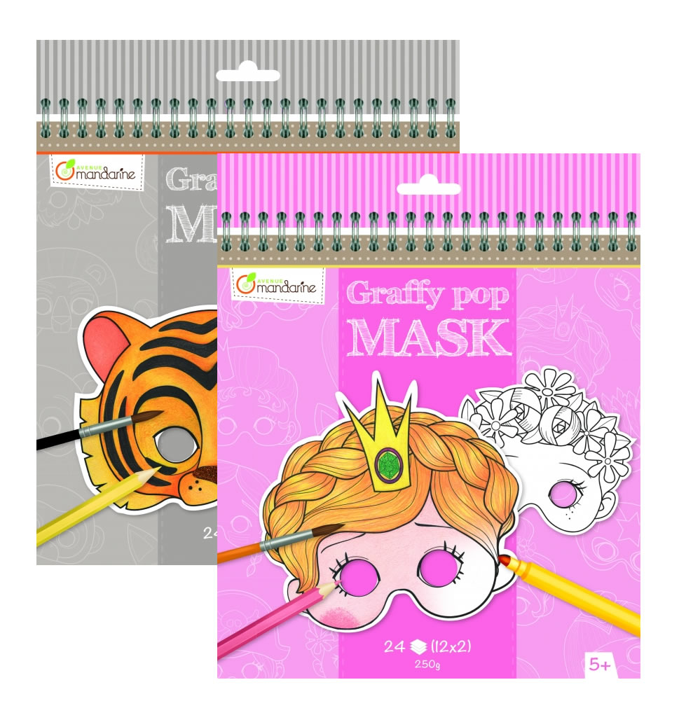 Avenue Mandarine Graffy Pop Masks