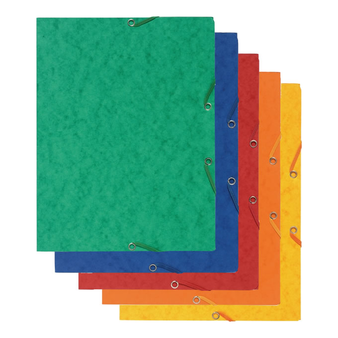 Pressboard File Folders w/Elastic Closure